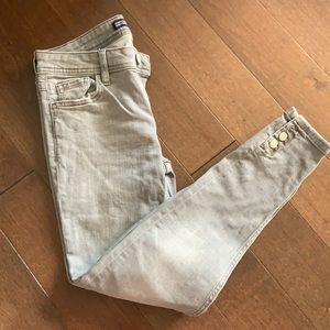 zara skinny jeans with buttons